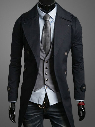 Trench Coat With Front Buttons фото