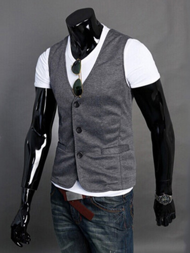 Cotton Blend Handsome Vest фото
