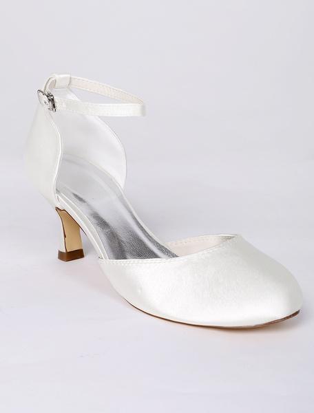 Ivory Ankle Straps Bridal Sandals Wedding Heels фото