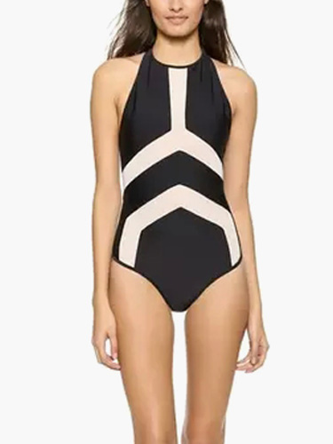 Color Block One Piece Swimsuit фото