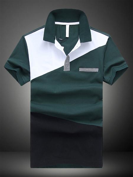 Fashionable Cotton Short Sleeves Mens Polo Shirt фото