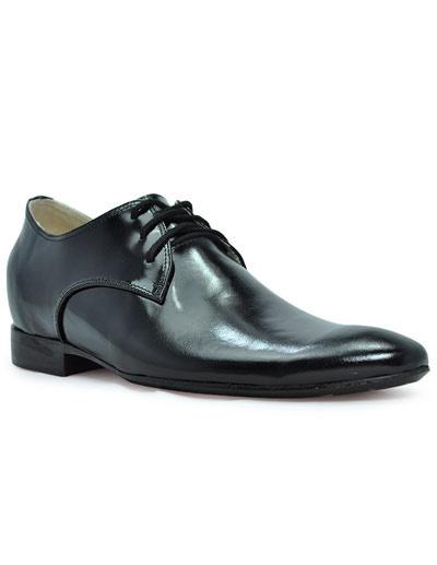 Уникальный Черный Резиновый Воловья Таллер Обувь Для Мужчин