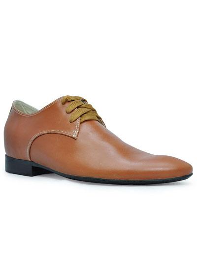 Винтаж Браун указал выше носок обуви кожа коровы резиновая подошва мужские