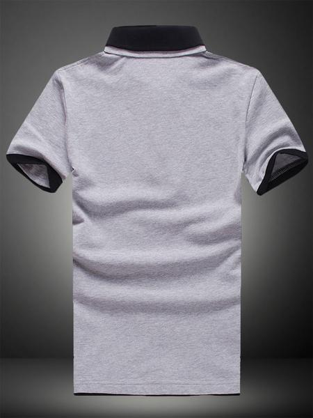 Milanoo / Kurzen Ärmeln Baumwolle Kurzarm Polo-Shirt