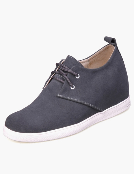 Таллер обувь серый спереди галстук резиновые замшевые мужские