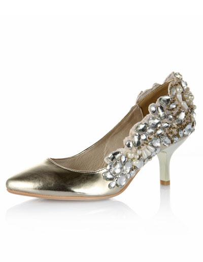 Chaussures de mariage à talons aigus sexy avec rhinestones