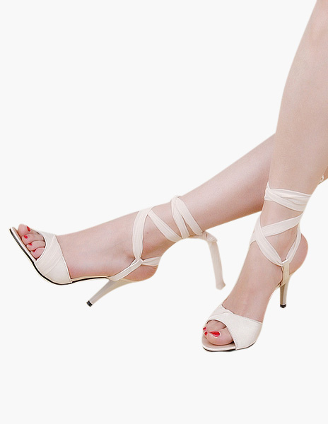 Elegant Bows Stiletto Heel PU Leather Stylish Dress Sandals