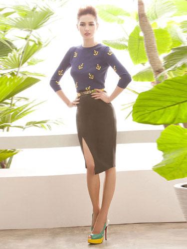 Elegant Women's Chic Wrap Skirt фото