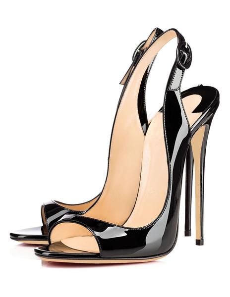 Buckle Stiletto Chic Sandals фото