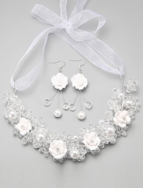 Mariée Bijoux de Mariage en Cristal de Bandeaux et de Boucle d'oreille de la Chapellerie Ampoule de Mariage Sets Tiare (O