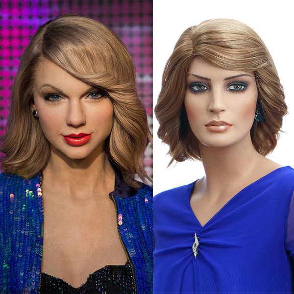 Gold Tousled Layered Short Curly Wigs фото
