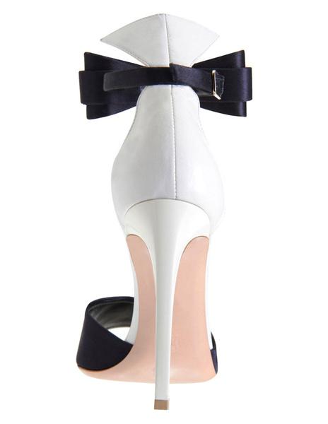 Milanoo / Tacones de aguja de tacón sandalias tobillo correa hebilla Womens Peep Toe de piel sintética