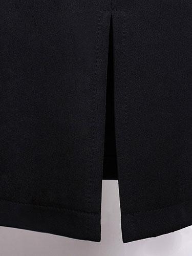 Milanoo / Partido de cremallera correa de negro Bodycon Vestido de mujer vestido