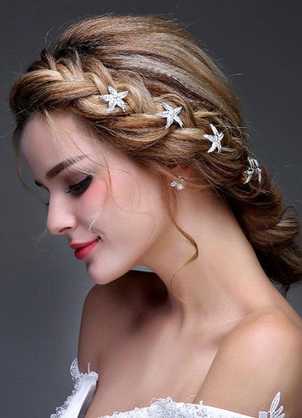 Image of Sposa Accessori per capelli capelli d'argento perno strass Tiara (7 X 2;5 Cm)