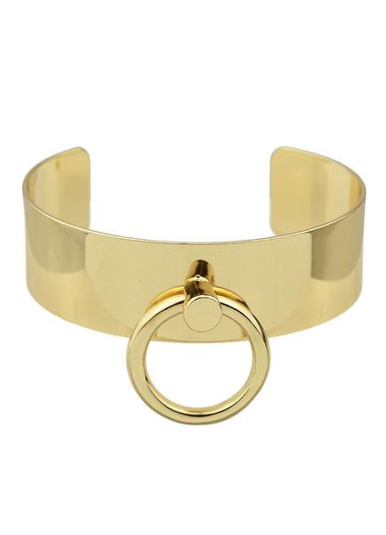 Gold Armreifen Damen Casual Legierung Manschette Armbänder