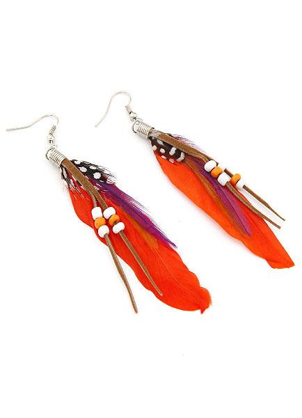Feather Women's Earrings Bohemian Alloy Party Earrings фото