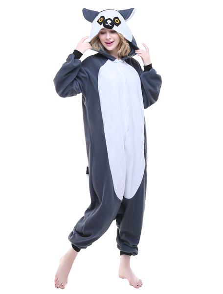 Kigurumi Pajama Lemur Onesie Flannel Adults Unisex Animal Sleepwear Costume Milanoo