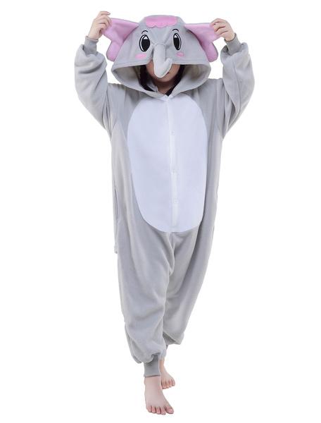 Kigurumi Pajama Elephant Onesie Childrens Flannel Animal Onesie Sleepwear Costume фото