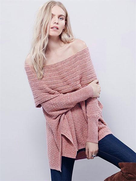 Вязаный трикотаж off-плечи высокая низкая женская пуловер свитер