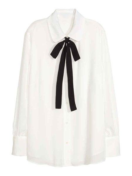 Milanoo / Camisa blanca de manga larga Casual blusas