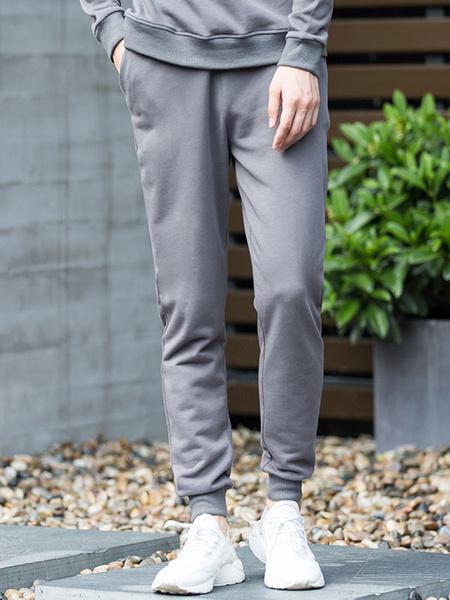 Серый/синий бегунов Мужские брюки Jogger спортивная одежда