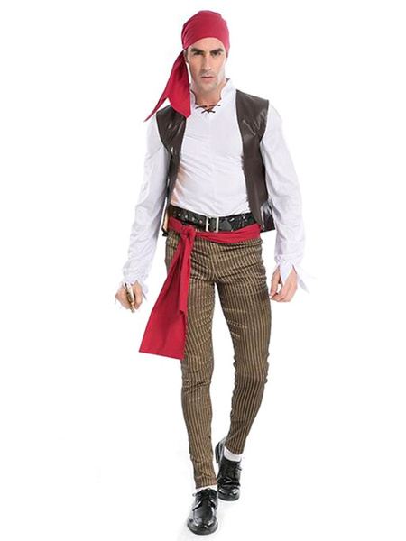 Хэллоуин костюмы Пираты Карибского костюм мужской косплей капитан Джейк с пиратами оголовье