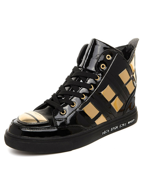 Черные мужские ботинки на платформе круглый носок на шнуровке цвет блока короткие сапоги