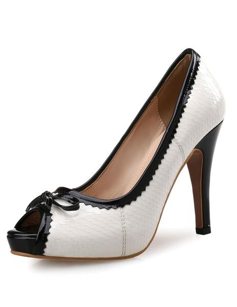 Chaussures talons hauts de bouche de poisson Escarpins talons hauts et plateforme - Milanoo FR - Modalova