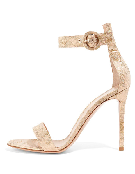48001303301a Nude Bridal Sandals High Heel Ankle Strap Open Toe Sexy Evening Shoes
