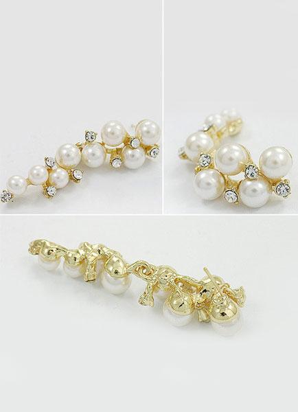 Vintage Wedding Earrings Gold Rhinestone Alloy Bridal Earrings фото