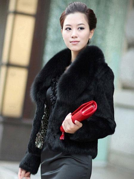 Milanoo / Abrigos y chaquetas de abrigo de piel imitación manga larga blanca corchete de diseño corto mujer de