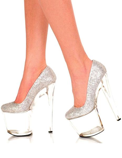 Milanoo / Zapatos de plataforma Tela-brillantes color liso sexy