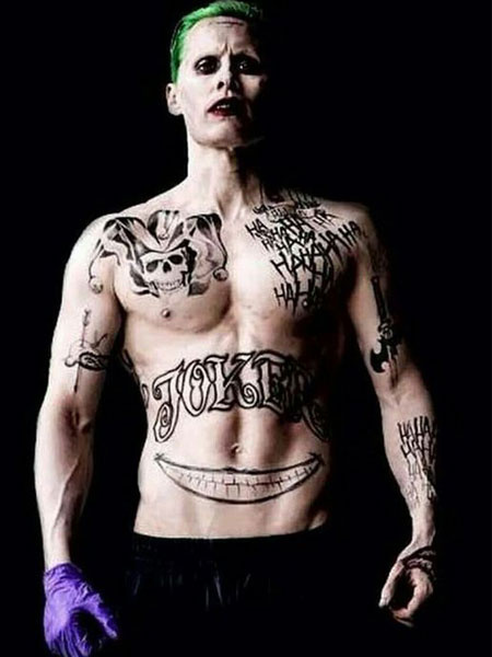Suicide Squad Joker Halloween Cosplay Temporary Tatto Not Include Arm Pattern