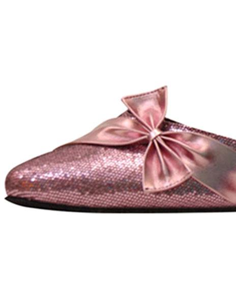 Milanoo / Zapatos de bailes latinos Tela-brillantes rosa color liso estilo dulce