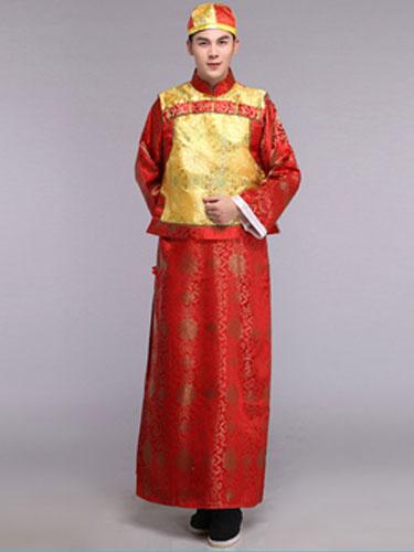 Хэллоуин традиционный китайский костюмы династии Цин мужская платье костюмы китайский древний костюм