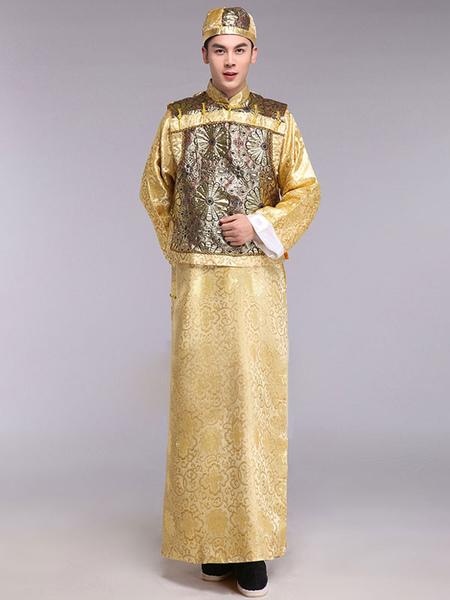Image of Carnevale Abbigliamento accappatoi Hallowen Costume cinese antico-uomo si adatta abbigliamento tradizionale Principe di Dynasty di Qing Halloween