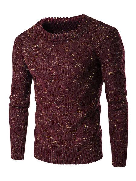 Мужской пуловер свитер шею длинным рукавом тонкий подходят трикотаж