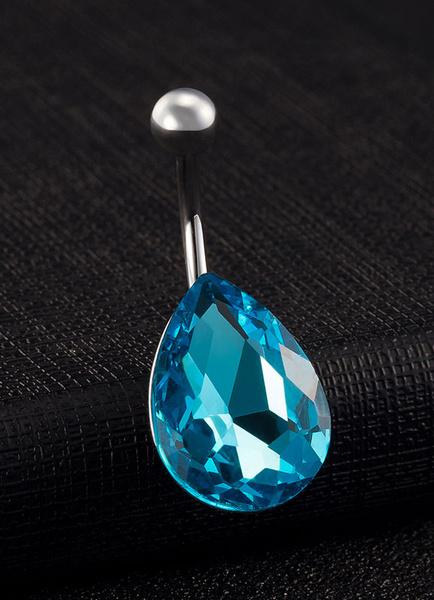 Belly Button Rings Copper Blue Body Piercing Jewelry фото