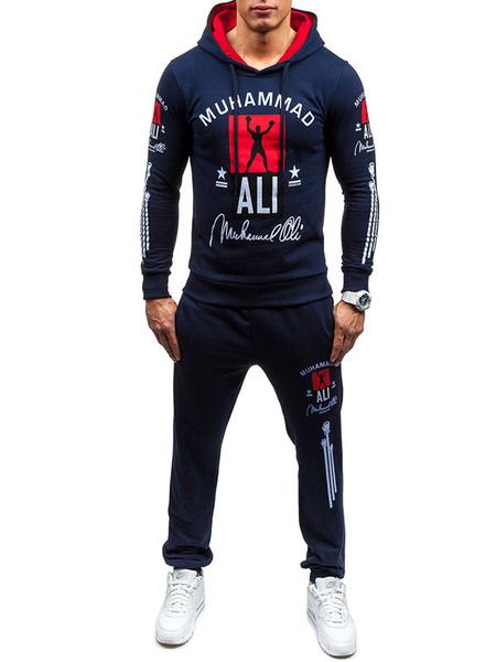 Балахон наборы мужской пуловер с капюшоном толстовка с длинным брюки