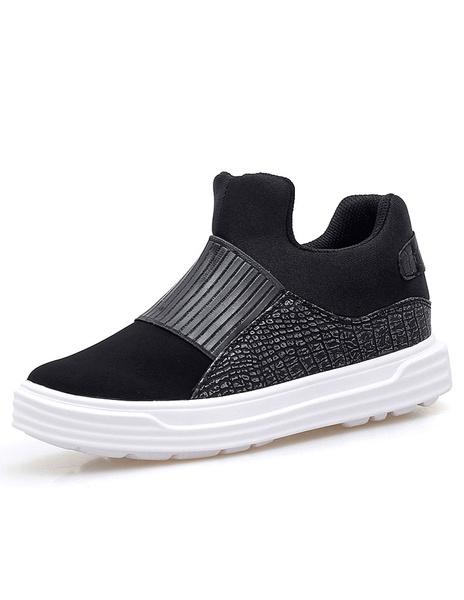 Черные мужские кроссовки Крокодил картина лоскутное замши спортивная обувь