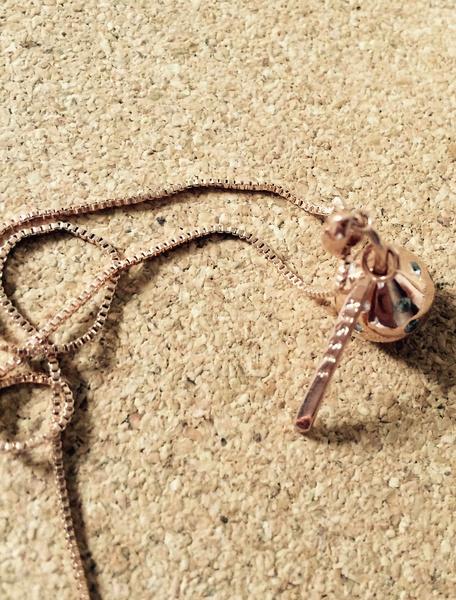 Gold Anhänger Halskette Damen Kette Halskette mit Kristall