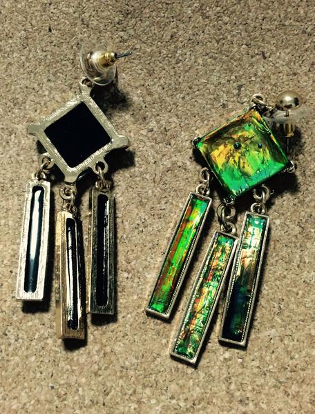 Statement Dangle Earrings Green Women's Pierced Resin Chandelier Earrings Milanoo