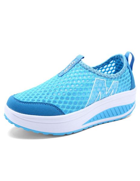 Женские синие кроссовки сетки туфли Casaul