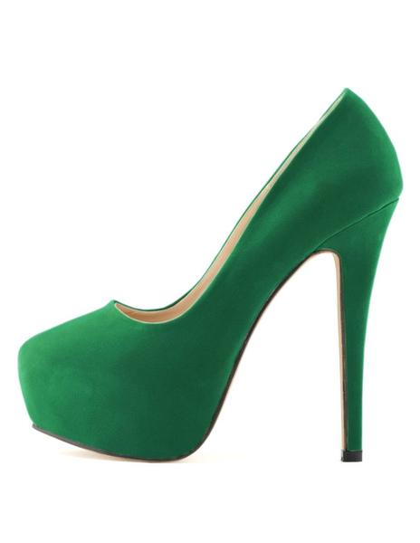 Milanoo / Zapatos de plataforma de felpa color liso