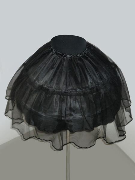 Sweet Lolita Petticoat Black Steel Bone Ruffle Short Lolita Underskirt фото