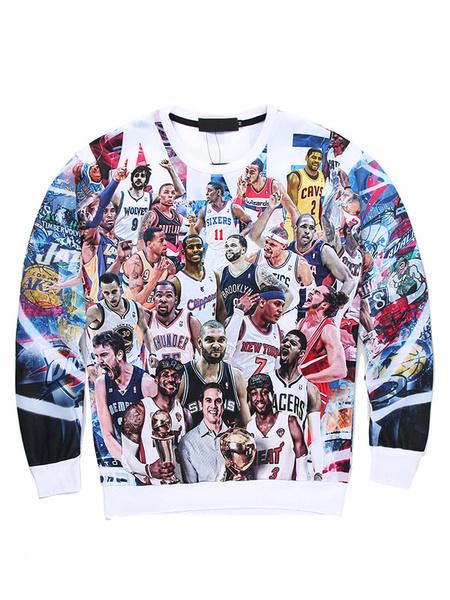 Men's 3D Sweatshirt Character Print Cotton Long Sleeve Pullover Top