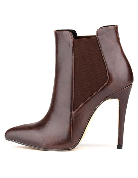 Высокий каблук ботильоны острым эластичный носок женщин туфли ботильоны