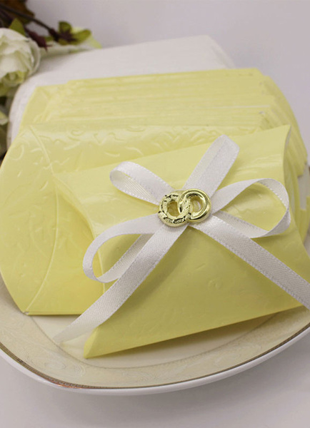 Wedding Favor Boxes Infinity Ribbon Bow Small Gift Box