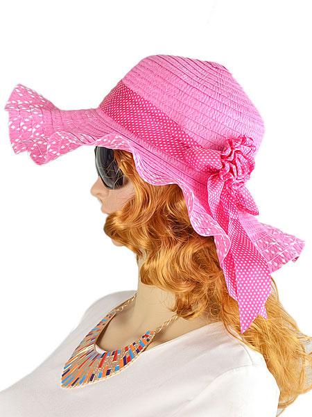 Women's Sun Hat Straw Floppy Hat With Flower Band Milanoo