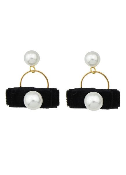 Women's Pearl Earrings Pierced Hoop Dangle Earrings Milanoo